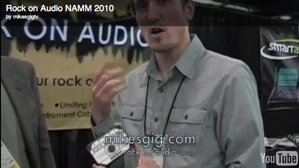 Pete Lewis from Rock on Audio NAMM 2010