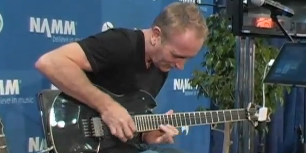 Def Leppard Guitarist Phil Collen jams on Agile Partners' AMPKIT NAMM 2011