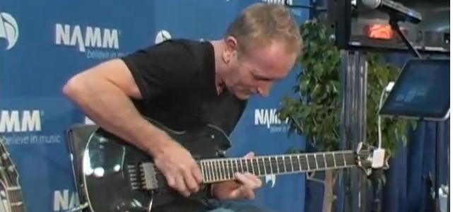 Def Leppard Guitarist Phil Collen jams on Agile Partners' AMPKIT NAMM 2011