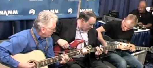 Phil Collen Jams with Mike Huckabee at NAMM 2011