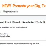 Announcing the New Events Calendar for Musicians.