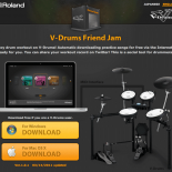 Roland V-Drums® Friend Jam, a powerful new social networking tool for drummers. Software app allows V-Drums users across the globe to interact with each other while improving their drumming skills.