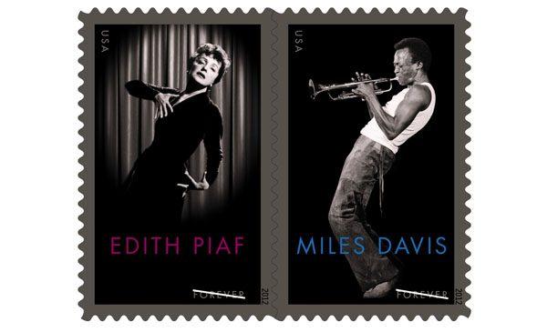 miles davis edith piaf stamp on mikesgig.com