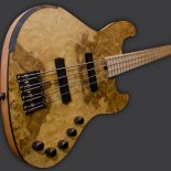 "The body of the ""MYRA"" bass is made with four different woods : - Back in mahogany - Middle in basswood - Top available in burl of myrtle, in burl […]"