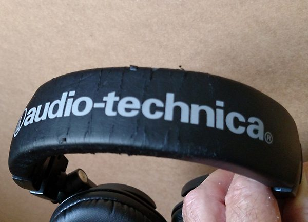 ATH-M50 outside of headband 36 months after factory replacement