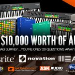 WIN $10,000 Worth of Ableton, Novation, Focusrite, KRK, Blue Mics & macProVideo Music Gear VANCOUVER, CANADA. AskAudioMag.com, an online and print magazine site specializing in news, reviews and tutorials for […]