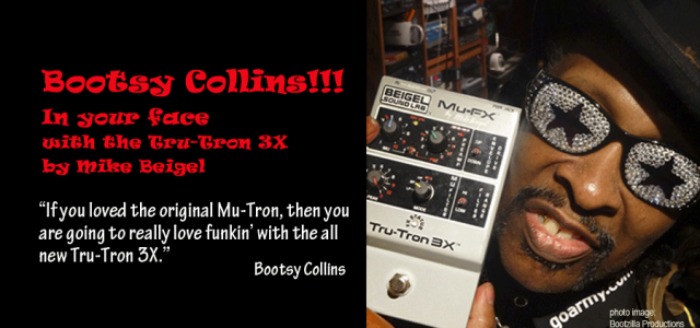 """If you loved the original 'Mutron', then you are going to really love funkin' with the all new 'Tru-Tron 3X',"" says Bootsy Collins."