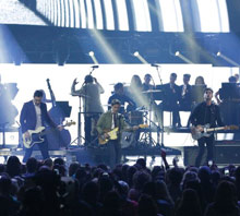 Arkells perform at the Juno Awards of 2015, singing through Sennheiser MD 431-IIs (photo courtesy of CARAS/iPhoto Inc.)