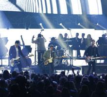 Arkells perform at the Juno Awards of 2015, singing through Sennheiser MD 431-IIs (photo courtesy of CARAS/iPhoto Inc.)