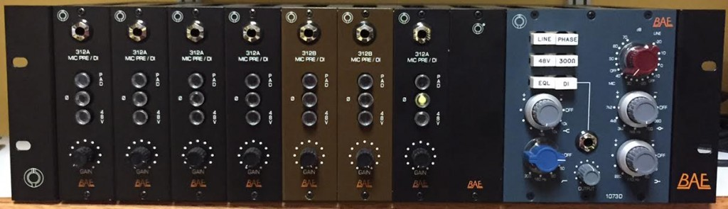 BAE Audio 500 series rack, similar to the one used on Rod Stewart's drums