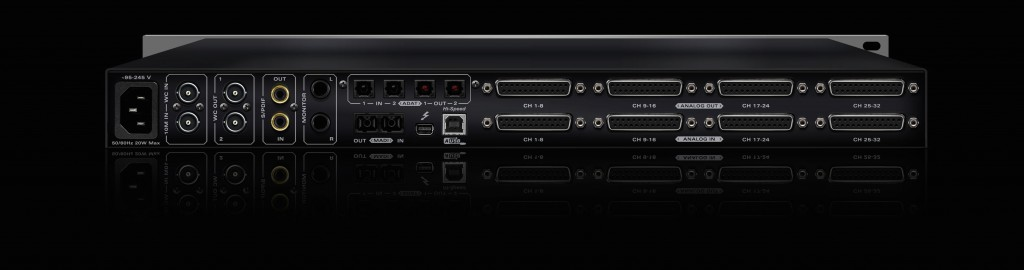 Antelope Audio Orion32+ interface (rear panel)