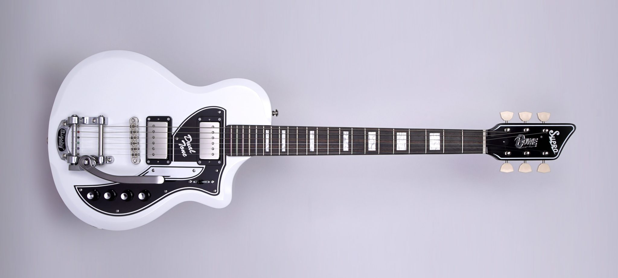 Supro Celebrates David Bowie with Limited Edition Dual Tone Guitar At NAMM 2018