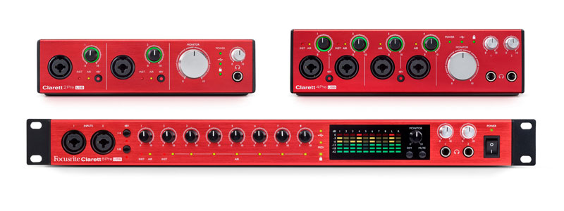 Focusrite Launches Three Studio-Quality USB Audio Interfaces