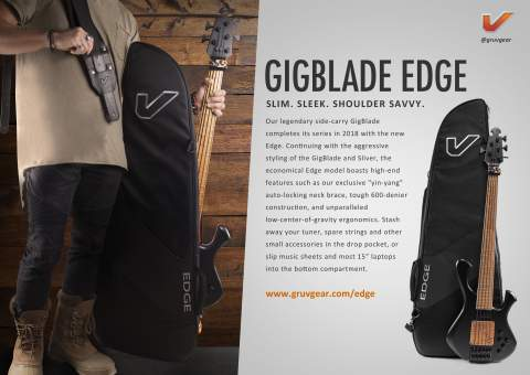 Gruv Gear Introduces New GigBlade Edge Side-Carry Guitar Bag at NAMM 2018