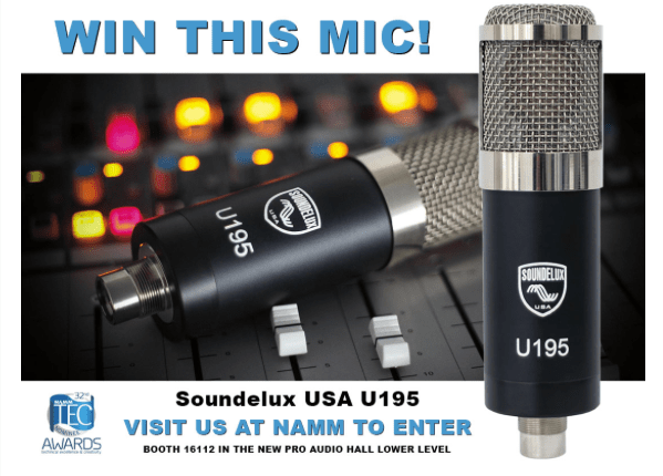 SOUNDELUX USA IS GIVING AWAY TWO U195 MICROPHONES AT NAMM!